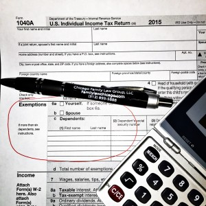 Taxes, dependency exemption, divorce, family law